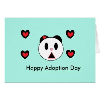 Día feliz de la adopción tarjeton