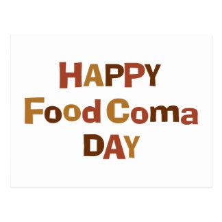 Día feliz de la coma de la comida postales