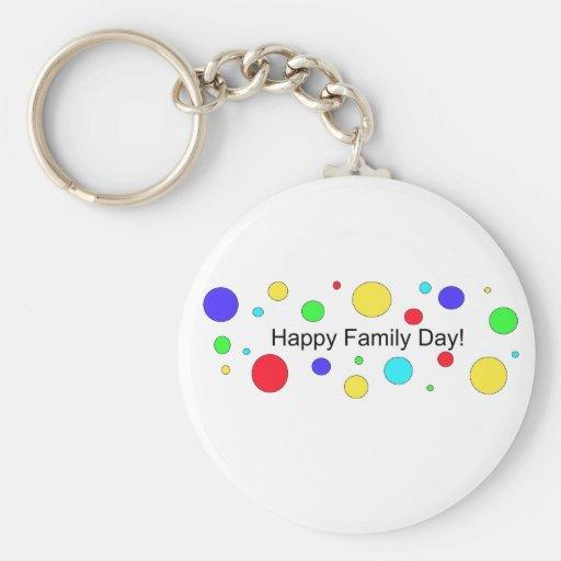 ¡Día feliz de la familia! Llavero Redondo Tipo Pin