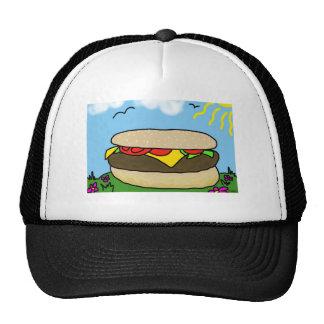 Día feliz de la hamburguesa gorros bordados