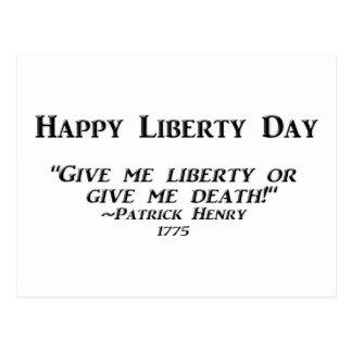 Día feliz de la libertad postales