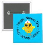 Día feliz de las enfermeras del diseño circular pins