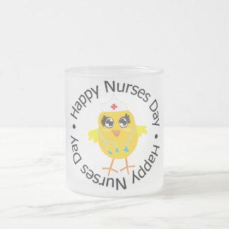 Día feliz de las enfermeras del diseño circular tazas de café