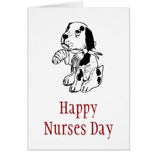 Día feliz de las enfermeras para la enfermera tarjeta de felicitación