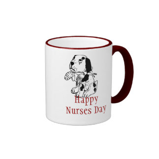 Día feliz de las enfermeras para la enfermera vete tazas de café