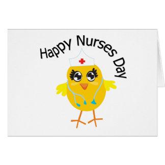 Día feliz de las enfermeras tarjeta