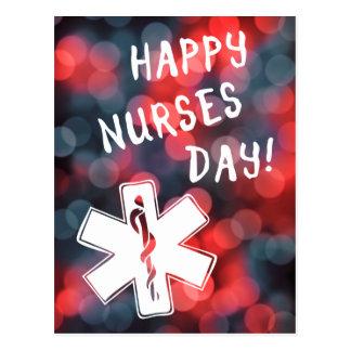 día feliz de las enfermeras tarjetas postales