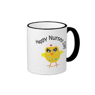 Día feliz de las enfermeras taza a dos colores