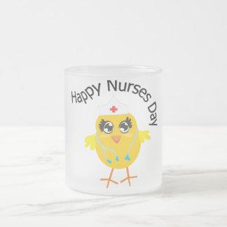 Día feliz de las enfermeras taza de café