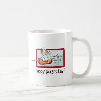 Día feliz de las enfermeras tazas