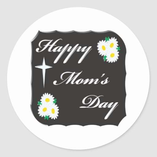 Día feliz de las mamáes pegatinas redondas