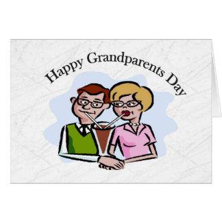 Día feliz de los abuelos tarjeta de felicitación