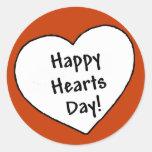 Día feliz de los corazones - pegatina