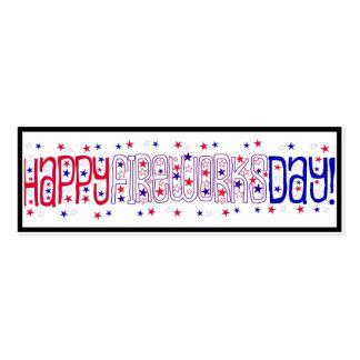 ¡Día feliz de los fuegos artificiales! Tarjetas De Visita Mini