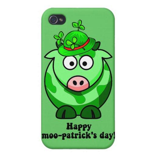 día feliz de los patricks del MOO iPhone 4 Cárcasas