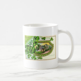 Día feliz de los patricks del st taza de café