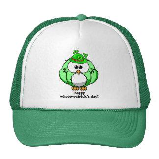 día feliz de los patricks del whooo gorras de camionero