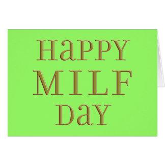Día feliz de MILF Felicitación