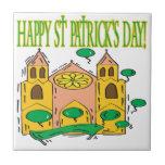 Día feliz de Patricks del santo Azulejos