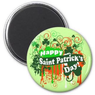Día feliz de Patricks del santo Imán Redondo 5 Cm