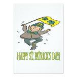 Día feliz de Patricks del santo Invitación 12,7 X 17,8 Cm