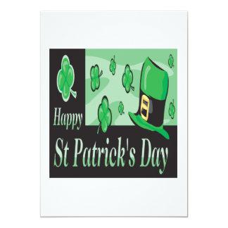 """Día feliz de Patricks del santo Invitación 5"""" X 7"""""""