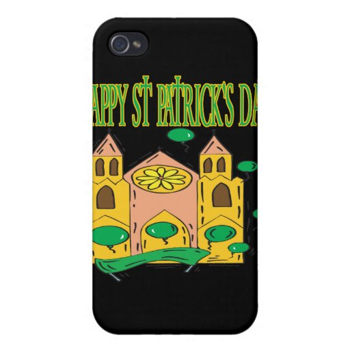 Día feliz de Patricks del santo iPhone 4 Carcasas