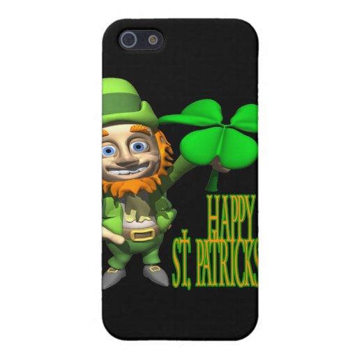 Día feliz de Patricks del santo iPhone 5 Carcasas