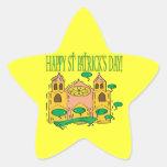 Día feliz de Patricks del santo Pegatinas Forma De Estrella Personalizadas