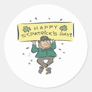 Día feliz de Patricks del santo Etiquetas Redondas