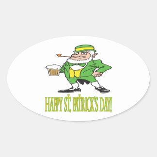 Día feliz de Patricks del santo Pegatinas Ovales