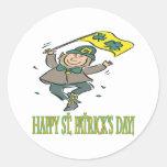 Día feliz de Patricks del santo Pegatinas Redondas