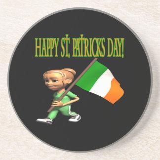Día feliz de Patricks del santo Posavasos Manualidades