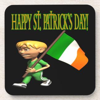 Día feliz de Patricks del santo Posavasos De Bebida