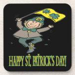 Día feliz de Patricks del santo Posavasos
