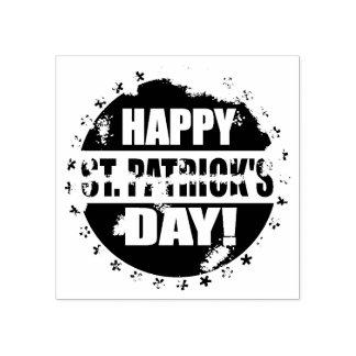 Día feliz de Patricks del santo Sello De Caucho
