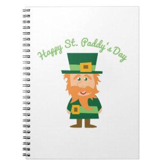 Día feliz de St.Paddy Libros De Apuntes Con Espiral