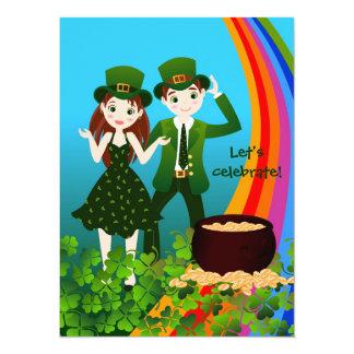 """Día feliz de St Patrick Invitación 5.5"""" X 7.5"""""""