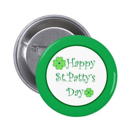 Día feliz de St.Patty Pins