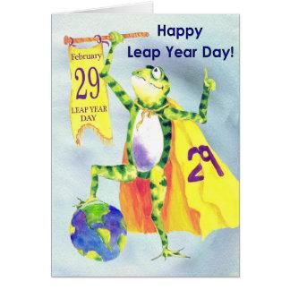 Día feliz del año bisiesto tarjeta de felicitación