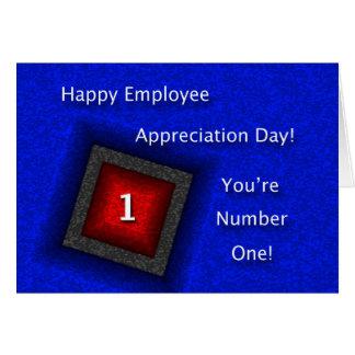 Día feliz del aprecio del empleado tarjeta de felicitación