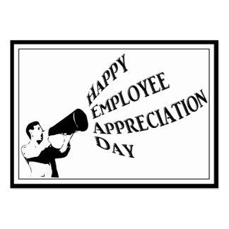 Día feliz del aprecio del empleado tarjetas de visita grandes