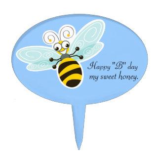 Día feliz del _B de la abeja de Wing-Nutz™_Bumble  Decoración De Tarta