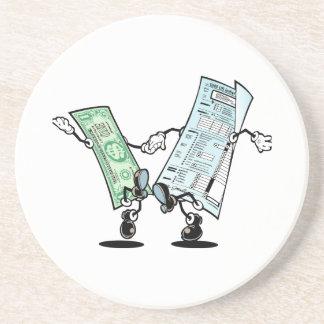 día feliz del impuesto posavasos diseño