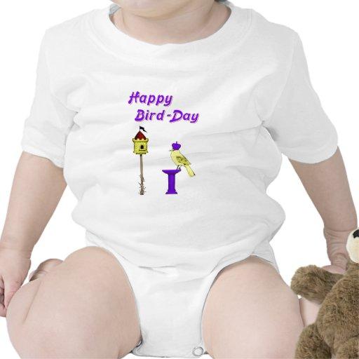 Día feliz del pájaro traje de bebé