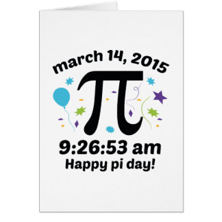 ¡Día feliz del pi! - 9:26 del día 2015 - 3.14.15 Tarjeton