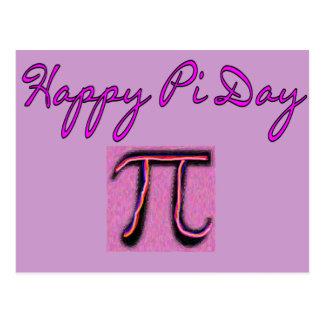 Día feliz del pi--Artsy Postal