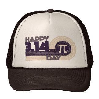 Día feliz del pi gorras de camionero