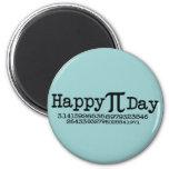 Día feliz del pi imán para frigorifico