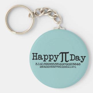 Día feliz del pi llavero redondo tipo pin